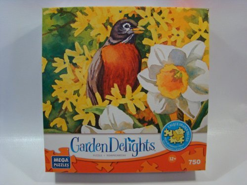 Garden Delights 750 Piece Jigsaw Puzzle: Spring Arrivals by Mega Brands
