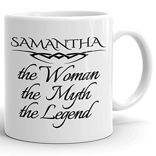 Best Personalized Womens Gift! The Woman the Myth the Legend - Coffee Mug Cup for Mom Girlfriend Wife Grandma Sister in the Morning or the Office - S Set 6