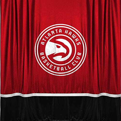 NBA Atlanta Hawks Shower Curtain, 72 x 72, Bright Red by Sports Coverage