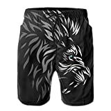 Cool Tribal Lion Men's/Boys Casual Quick-Drying Bath Suits Elastic Waist Beach Pants with Pockets