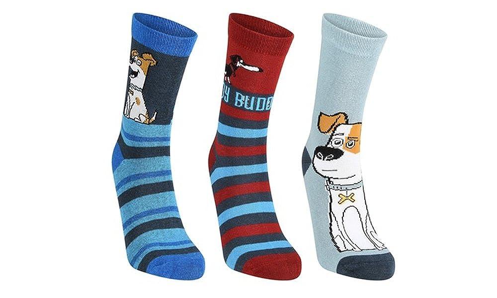 The Secret Life Of Pets 3 Pk Socks 6-12.5 Size