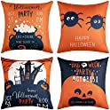 4-Piece Halloween Throw 18x18 Decorative Fall Pillow Covers