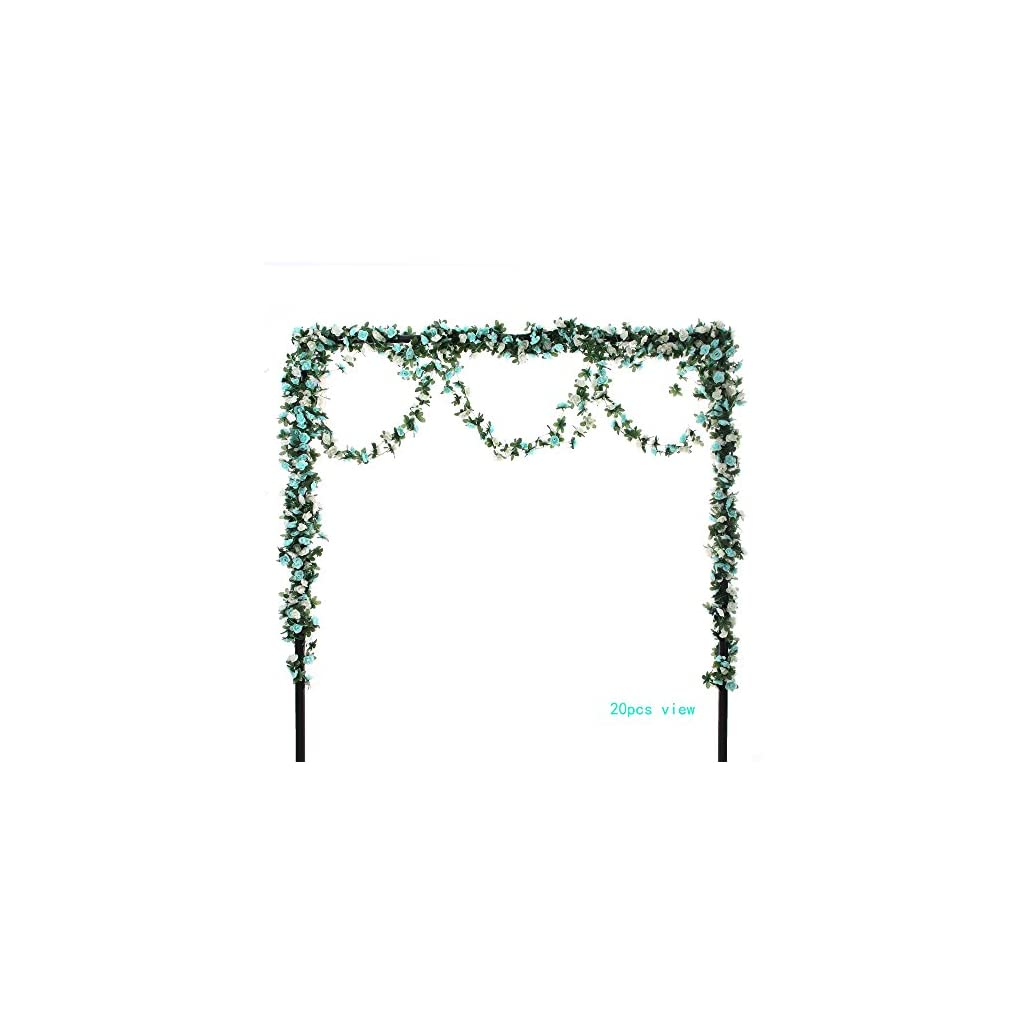 Felice-Arts-4pcs-Artificial-Flowers-82-FT-Fake-Plastic-Fabric-Silk-Artificial-Rose-Flower-Wisteria-Ivy-Hanging-Vine-Garland-for-Home-Wedding-Table-Decoration