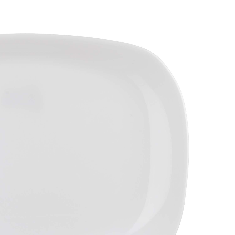 Piatto da portata rettangolare Parma in vetro opalino da 20x28 cm