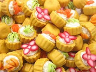 20 Piece Loose Pastry Swirl Almond Toped Dollhouse Miniatures Food Bakery