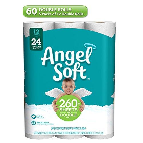 Angel Soft Toilet Paper 60 Double Rolls 60 120 Regular