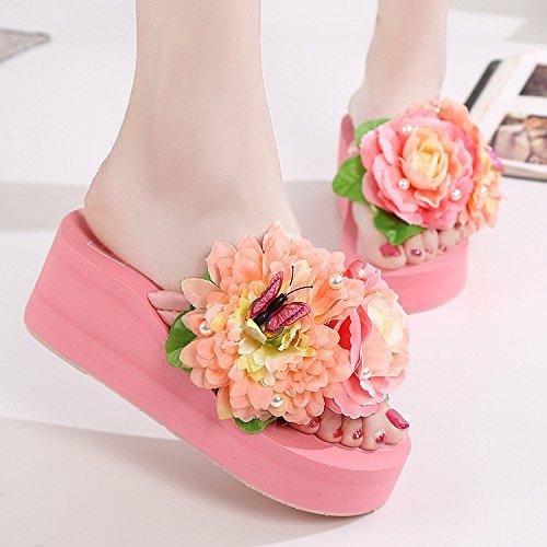 pendenza estate Donyyyy donne piede Sandali trentotto nine Thirty fiore sandali scarpe sandali all'aperto e rqpYq4vw