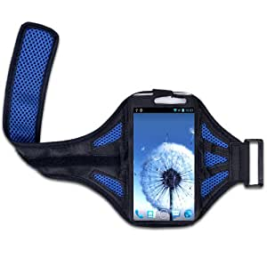 Blue Sports Jogging Running Cycling Armband Case Cover For Samsung Note2 II