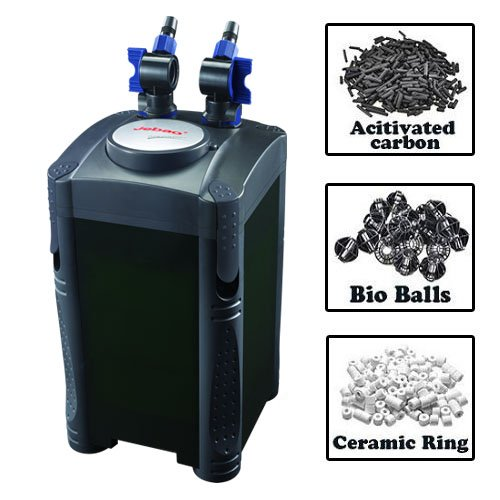 Filter Tank Canister (Jebao 4-Stage Aquarium Canister Filter 320 GPH (404 with Media Kits))