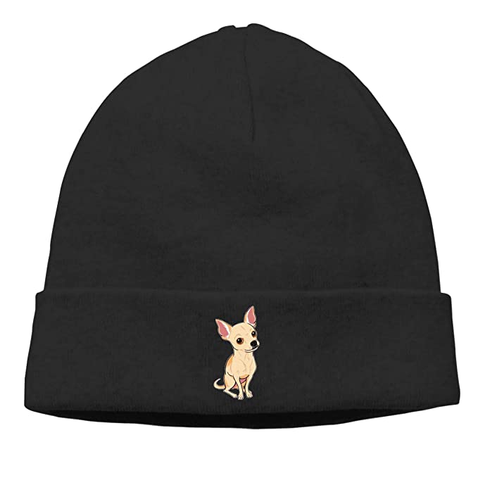 nordic runes Chihuahua Dog Beanie Hat Winter Warm Knit Skull Cap for  Mens Womens at Amazon Men s Clothing store  23f1143914c