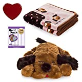 SnugglePuppies Dog Separation Anxiety Aid and Blanket Bundle (Brown Mutt-Pink)