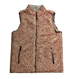 True Grit Frosty Tipped Pile Double Up Vest-Spice-small