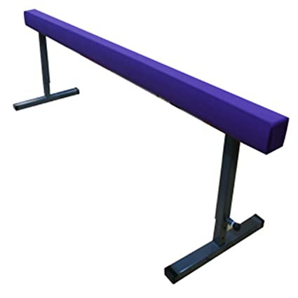 The Beam Store 30-Inch Adjustable Height 8-Feet Suede Balance Beam (Purple 138782637
