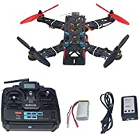 QWinOut Assembled Full Kit :250mm Q250 PRO Carbon Fiber RFT RC Racing Drone Quadcopter Multirotor + Remote Controller Transmitter + Battery