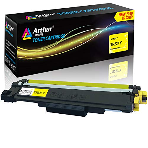 Arthur Imaging with CHIP Compatible Toner Cartridge Replacement Brother TN227 (Yellow, 1 Pack)