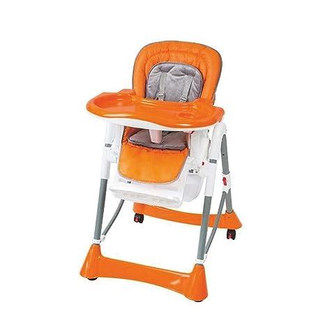 CHEZI tronasTrona para niños Trona Plegable Función reclinable ...