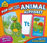 Animal Alphabet Pop-up Flash Cards, School Zone, 1589479327