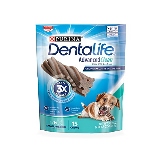 Purina Dentalife Advanced Clean Oral Care Small/Medium Adult Dog Treats - 15 Ct. Pouch