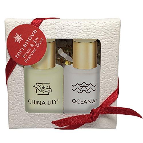 Terranova China Lily & Oceana Peace & Joy Perfume Duet, 2 (0.375 Ounce Bottles)