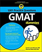 1,001 GMAT Practice Questions For Dummies Front Cover