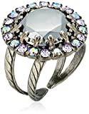 "Sorrelli  ""Chantilly Lace"" Circular Cocktail Ring with Crystal Edge Accents"