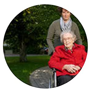 alfombrilla de ratón Seniorinim silla de ruedas con el cuidador - ronda - 20cm