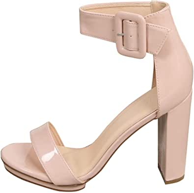 Details about  /Avon Mark Crackle METALLIC Pumped w// Vogue Ankle Strap Heels CHOOSE SIZE New
