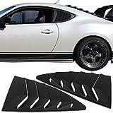 Automotive : Rear Louver Fits 2013-2017 Scion Fr-s Subaru Brz | Ikon Style Black Abs Quarter Window Panel By Ikon Motorsports | 2014 2015 2016