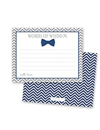 48 Bow Tie Baby Shower Advice Cards (Navy) BOBEBE Online Baby Store From New York to Miami and Los Angeles