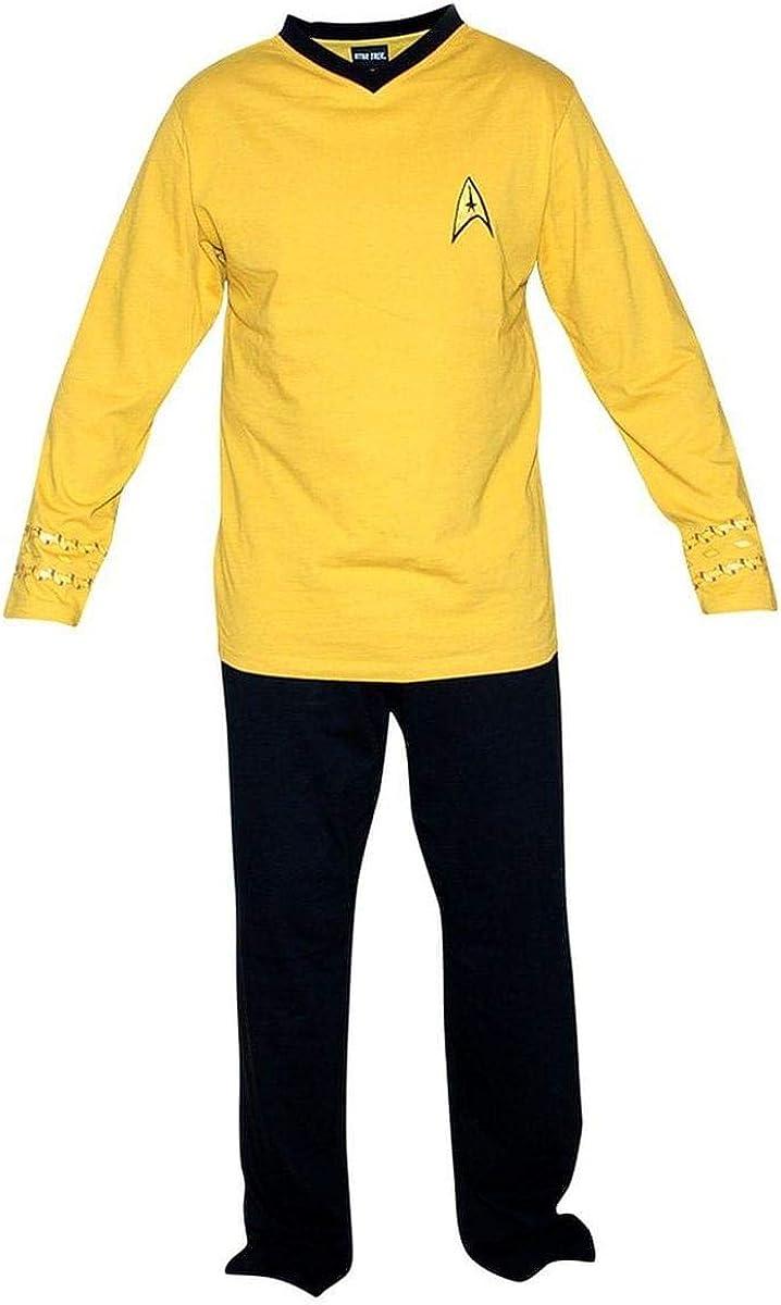ThinkGeek Star Trek Adult Captain Kirk Officer Uniform Pajama Set (Small)
