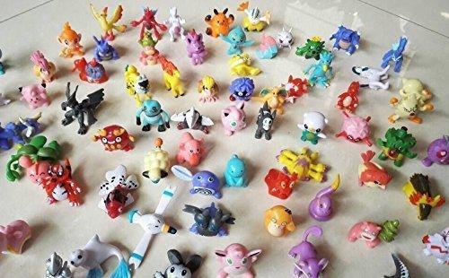 1 SET PER Lots 144pcs Pokemon Action Figures 2-3cm Pokemon Pikachu Monster Mini Plastic Figures Small Size Gift Multicolor, 144pcs