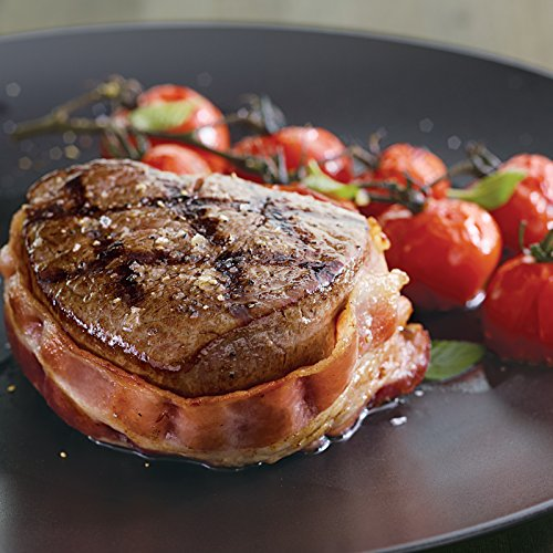 Each Fillet Individually Vacuum - Kansas City Steaks 4 (8oz.) Super Trimmed Filet Mignon with Bacon