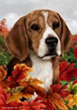 Cheap Beagle – Tamara Burnett Fall Leaves Large Flags