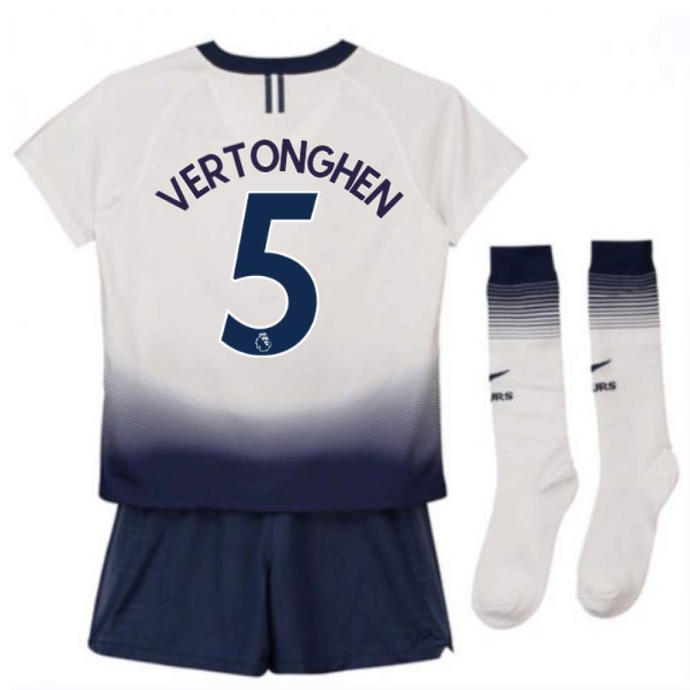 UKSoccershop 2018-2019 Tottenham Home Nike Little Boys Mini Kit (Jan Vertonghen 5)