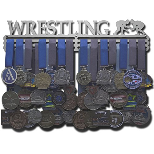 Allied Medal Hangers - Wrestling (18'' wide with 3 hang bars) by Allied Medal Hangers