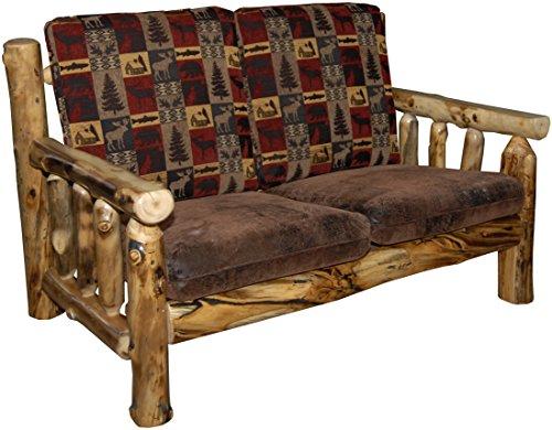 Rustic Aspen Log Love Seat5 Fabric (Aspen Log Furniture)