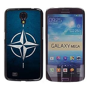 A-type Arte & diseño plástico duro Fundas Cover Cubre Hard Case Cover para Samsung Galaxy Mega 6.3 (OTAN Estrella)