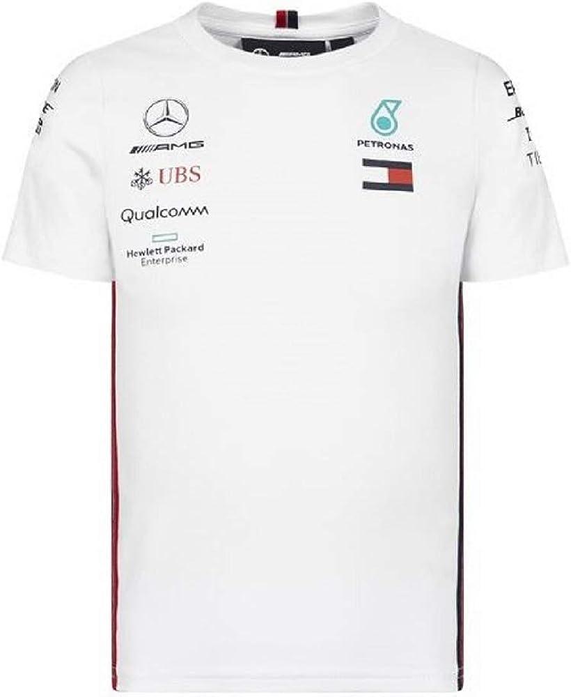 Mercedes-AMG Petronas Motorsport 2019 F1™ Camiseta del Equipo Blanca niño (Blanca, 164): Amazon.es: Ropa y accesorios