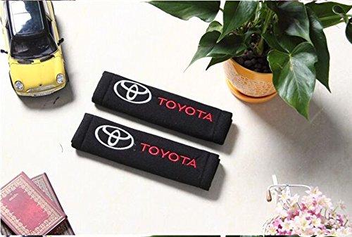 [Amooca Toyota Seat Belt Cover Shoulder Pad (Red Lettering)] (Make Shoulder Pads Football Costume)