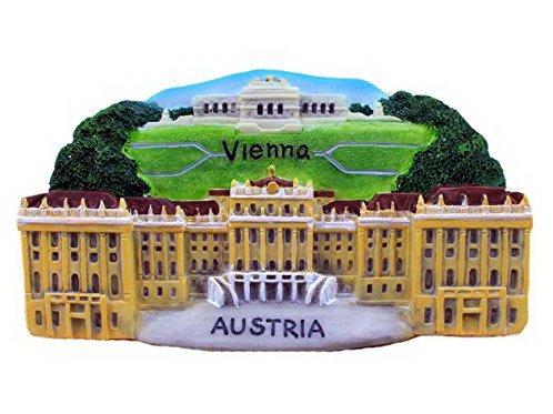 Christmas Gifts Resin Fridge Magnet Austria. Schonbrunn Palace in Vienna