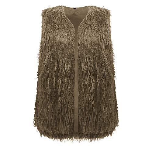 Kulywon Women Solid Regular Slim Fit Sleeveless Peplum Fleece Coat Cardigan Vest