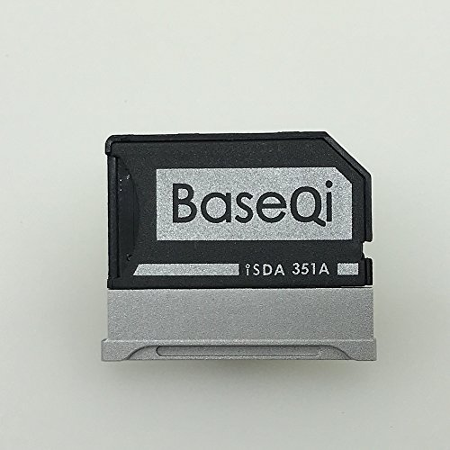 Picture of a BASEQI Aluminum MicroSD Adapter for 732030626485