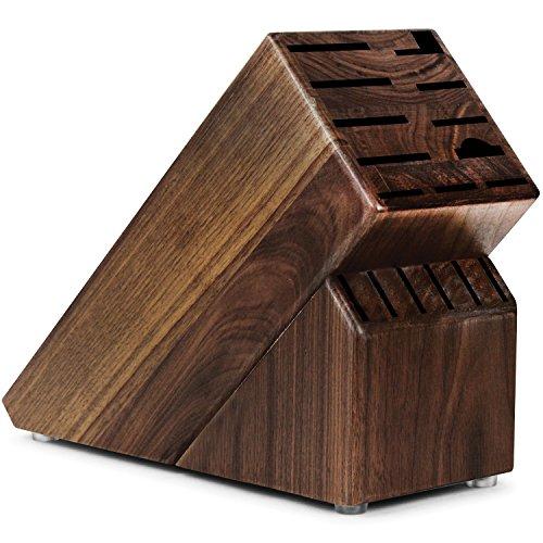 Block Walnut (Cutlery and More 17-slot Universal Walnut Knife Block)