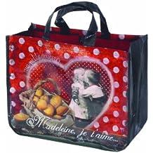"French Shopping Bag - Madeleine Je T'aime - 17"" X 13"" X 7"" -"