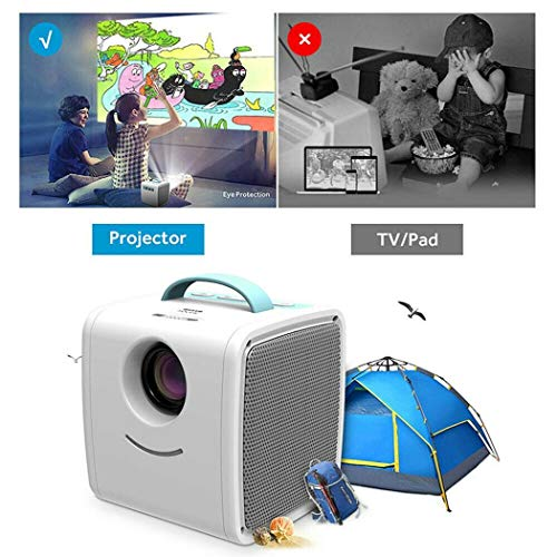 2.5' Color Lcd Monitor - IEnkidu Mini Projector Portable LED LCD Projector, Full HD 1080P Supported, Compatible with PC Mac TV DVD iPhone iPad USB SD AV HDMI, Home Theater & Outdoor Projector Gifts for Kids