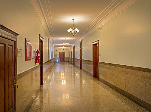16 x 24 Art Canvas Wrapped Frame Giclee Print of Hallway at the Texarkana U.S. Post Office and Federal Building 4130 Highsmith 02a