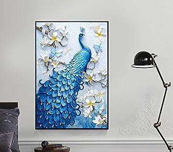 100x65cm Chakil pavone 5D Round Diamond Painting Home House Decor kit punto croce Frameless Handmade Art set 100X65CM