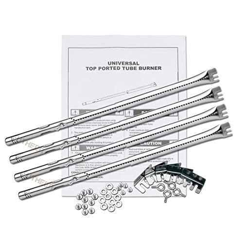Utheer Adjustable Grill Burner Tube 14.09 up to 20.39 Inch for Charbroil Advantage 463344015, 463240015, 463344116, Performance 475, 463376018P2; Commercial Series TRU Infrared Carryover Tube, 4 Pack