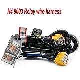 1Set H4 Headlight Relay Harness Kit for 7x6 5x7 H6054 Headlights Heat Ceramic Wiring Harness Fit For Tacoma 95-97 and Suzuki Samurai,Fix Dual Ground Problem