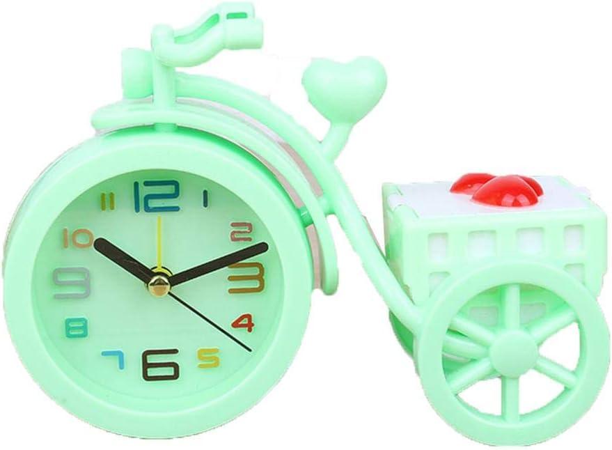 Hinleise - Reloj despertador moderno para bicicleta/triciclo, reloj digital para dormitorio infantil, mesita de noche, adornos con baúl